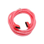 Nippon Labs 72'' eSATA External Round Cable; UV Red