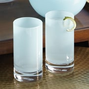 Studio A Bar ware Lab Highball Glass (Set of 4); Opaline Blue