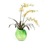 Dalmarko Designs Orchids in Marbled Glass Vase