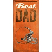 Fan Creations NFL Best Dad Graphic Art Plaque; Cleveland Browns
