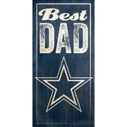 Fan Creations NFL Best Dad Graphic Art Plaque; Dallas Cowboys