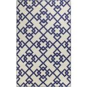 Bashian Rugs Rockport Ivory/Blue Area Rug; 7'6'' x 9'6''
