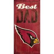 Fan Creations NFL Best Dad Graphic Art Plaque; Arizona Cardinals