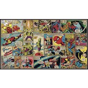 York Wallcoverings Walt Disney Kids II Marvel Classic Comic Wall Mural