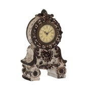 Woodland Imports Unique Styled Ceramic Table Clock; Grey