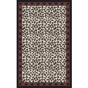Surya Nantes Ivory/Black Animal Print Area Rug; 5' x 8'