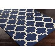 Artistic Weavers Pollack Navy Geometric Stella Area Rug; Round 3'6''