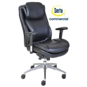 Serta at Home Series 200 Puresoft  High-Back Task Chair; Black
