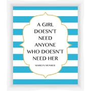 PTM Images A Girls Doesn't Giclee Print Framed Textual Art