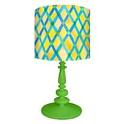 Oopsy Daisy Moroccan Painted Pattern 21'' H Table Lamp with Drum Shade