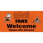 Fan Creations NFL Fans Welcome Graphic Art Plaque; Cleveland Browns
