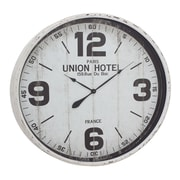 Woodland Imports Oversized 35'' Metal Wall Clock; White