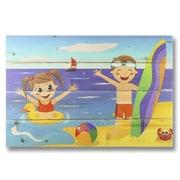 Gizaun Art 4 Piece Wile E. Wood Kids on Beach Graphic Art Set
