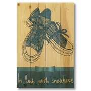 Gizaun Art Wile E. Wood In Love With Sneakers Wall Art