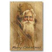 Gizaun Art 4 Piece Wile E. Wood Merry Christmas Painting Print Set
