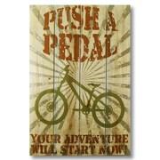 Gizaun Art Wile E. Wood Push a Pedal Wall Art