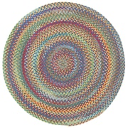Capel Darwin Bright Multi Colored Straight Edge Chair Mat (Set of 4); Round 1'3''