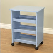 Mega Home All purpose Rolling End Table; Blue