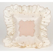 Glenna Jean Madison Dot with Ruffle Throw Pillow