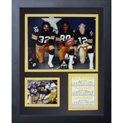 Legends Never Die Pittsburgh Steelers 70's Big 3 Kneeling Framed Memorabili