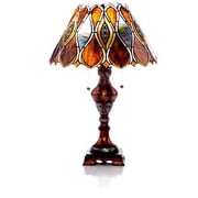 River of Goods Stained Glass Infinity 24.5'' H Table Lamp with Cone Shade