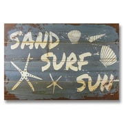 Gizaun Art Wile E. Wood Sand Surf Sun Wall Art