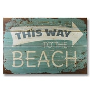 Gizaun Art Wile E. Wood This Way to the Beach Wall Art