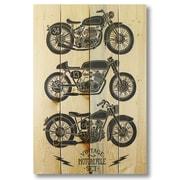 Gizaun Art Wile E. Wood Vintage Motorcycle Wall Art