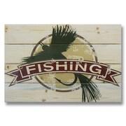 Gizaun Art 4 Piece Wile E. Wood Fly Fishing Vintage Advertisement Set