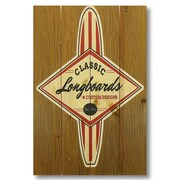 Gizaun Art 4 Piece Wile E. Wood Classic Longboard Vintage Advertisement Set