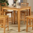 East West Counter Height Pub Table; Oak