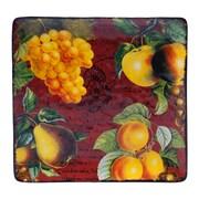 Certified International Botanical Fruit Square Platter