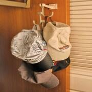 Global Door Controls Wall Hanger and 4 Universal Wall Hook; Warm Gray