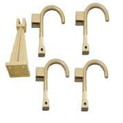 Global Door Controls Wall Hanger and 4 Universal Wall Hook; Sand Beige