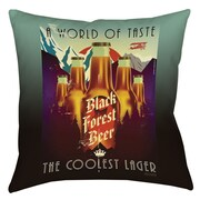 Thumbprintz Forest Beer Printed Polyester Throw Pillow; 16'' H x 16'' W x 4'' D
