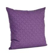 Saro Nirali Appliqu  Sheeting Cotton Throw Pillow; Eggplant