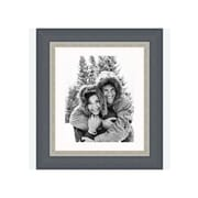 Frames By Mail 8'' x 10'' Traditional Frame in Black with Silver Lip