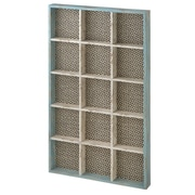 CBK Wall Shelf with Woven Pattern Background