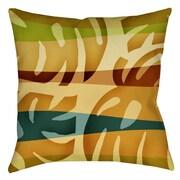 Thumbprintz Tropical Leaf 1 Printed Throw Pillow; 20'' H x 20'' W x 5'' D