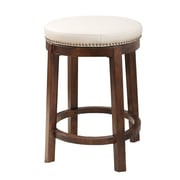 Abbyson Living Shawnee 26'' Swivel Bar Stool with Cushion; Ivory