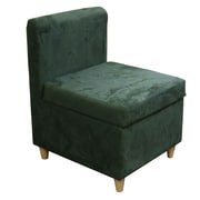 ORE Furniture Side Chair with Storage; Dove Gray
