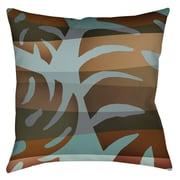 Thumbprintz Tropical Leaf 4 Printed Throw Pillow; 26'' H x 26'' W x 7'' D