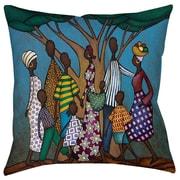 Thumbprintz Family Tree Indoor/Outdoor Throw Pillow; 20'' H x 20'' W x 5'' D