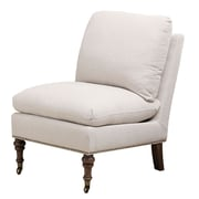Abbyson Living Siena Slipper Chair; Grey