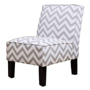 Abbyson Living Natalia Chevron Slipper Chair; Grey