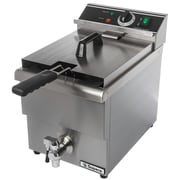 Supera® CDF-6F-1 12 lbs. Single-well Electric Countertop Deep Fryer with Faucet