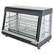 """Supera® 36"""" 2 Glass Door Countertop Heated Display Case"""