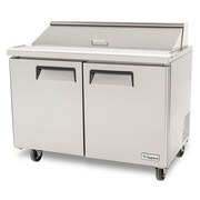 "Supera® 48"" x 30"" Refrigerated Sandwich/Salad Prep Table, Stainless Steel"