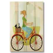 Gizaun Art 4 Piece Wile E. Wood Bike Girl Graphic Art Set