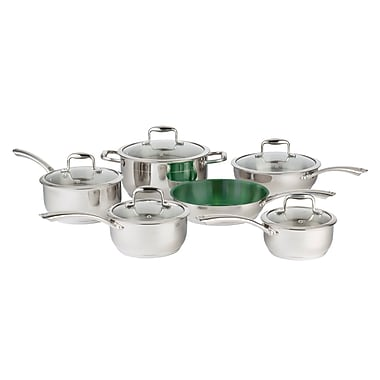 Paderno UltraCuisine 11-Piece Cookware Set, Stainless Steel